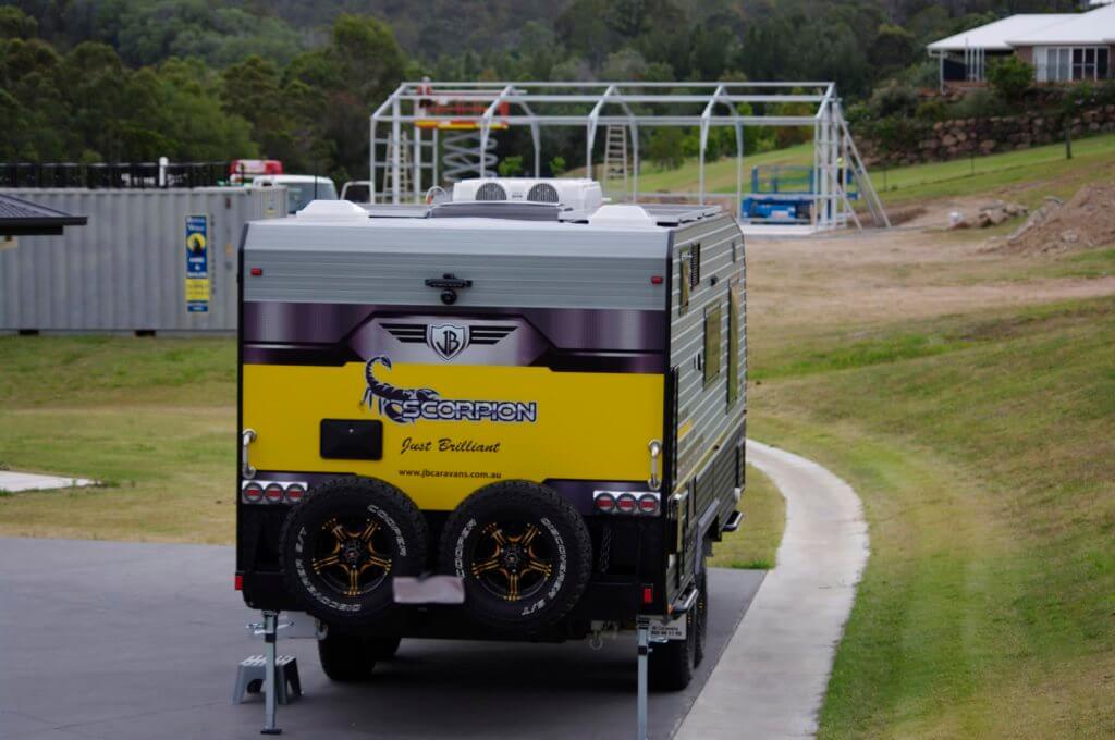 Caravan shed in Australia