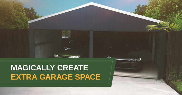 Create Extra Garage Space Cover