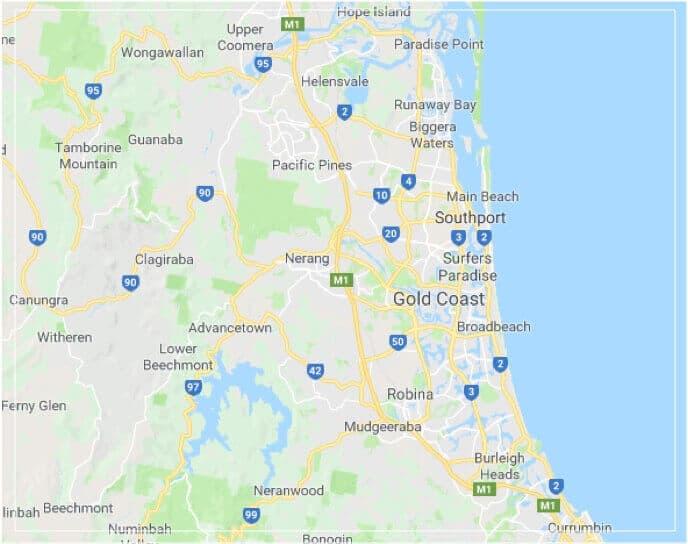 Gold Coast Sheds Map