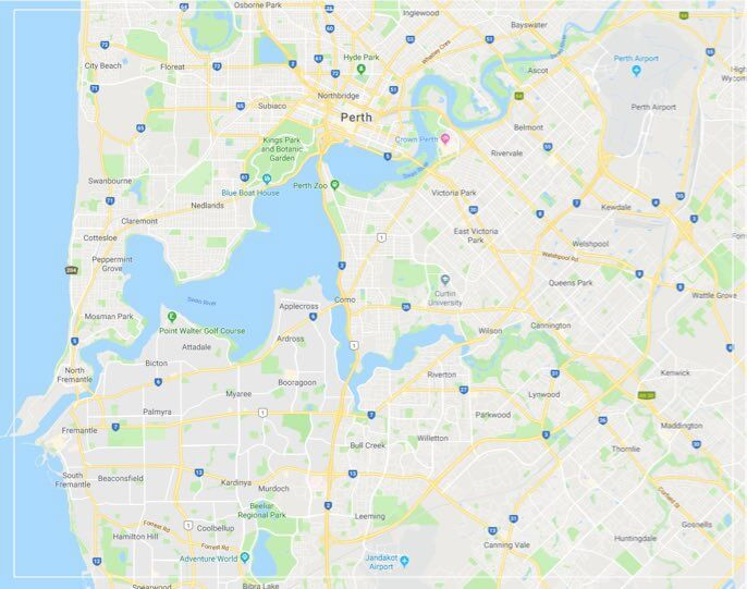 Perth Sheds Map