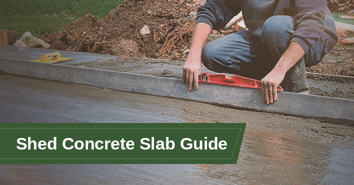 Shed Concrete Slab Guide Cover