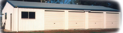 Commercial sheds with 4 shutters in Australia