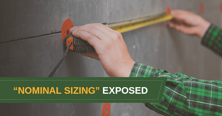 Shed Nominal Sizing Exposed
